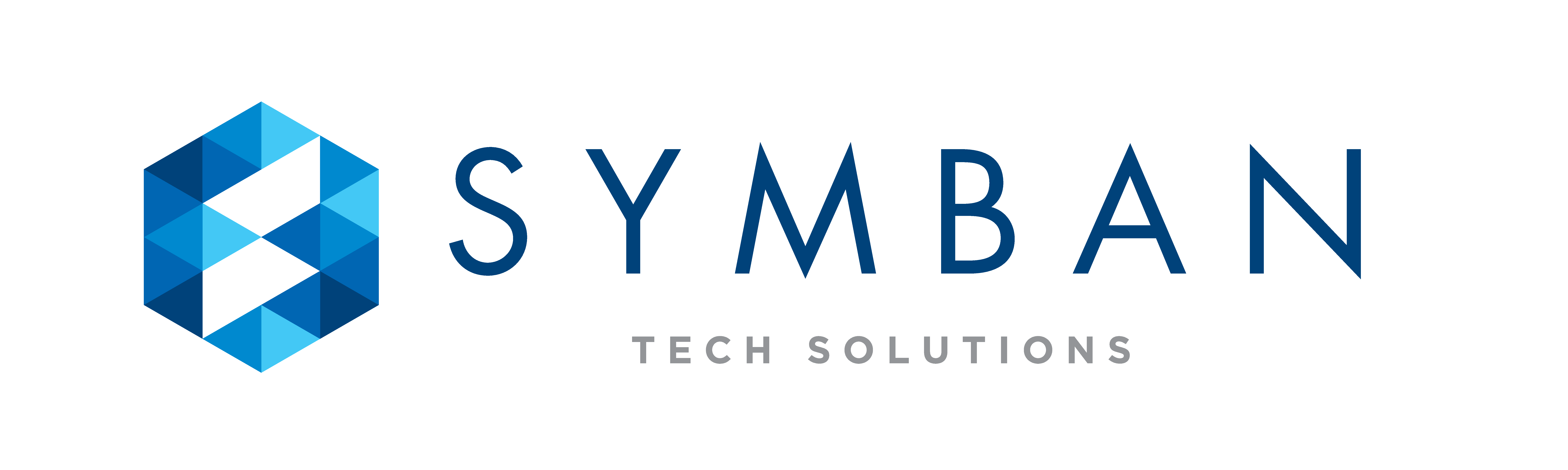 Symban Services Logo with TECH SOLUTIONS tagline on White Background